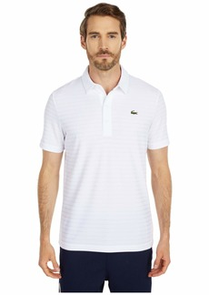 Lacoste Men's Sport Short Sleeve Jacquard Techincal Polo Shirt  XXL