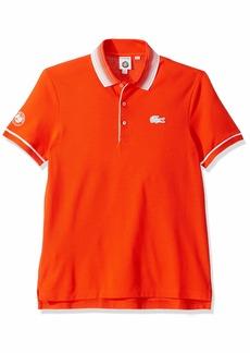 Lacoste Men's Sport Short Sleeve Petit Pique Polo Mexico red/White