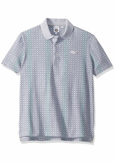 Lacoste Men's Sport Short Sleeve Stretch All Over Print Polo