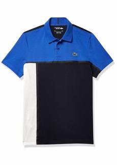 Lacoste Men's Sport Short Sleeve Tennis Colorblock Polo Shirt  M