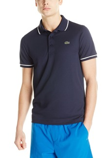 Lacoste Men's Sport Short Sleeve Ultra Dry Semi Fancy Polo Shirt7