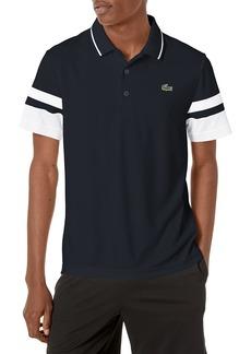 Lacoste Men's Sport Short Striped Sleeve Semi Fancy Ultra Dry Polo Shirt  L