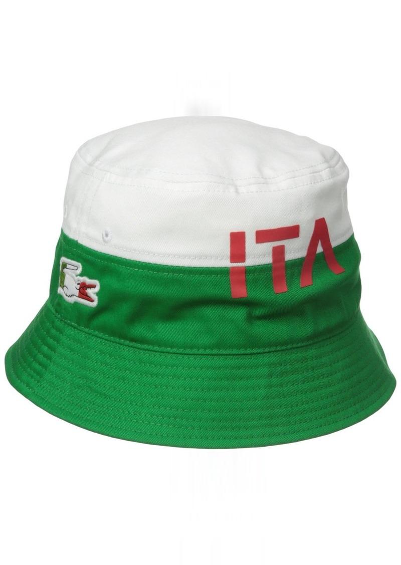 133d9f3ab0f Lacoste Lacoste Men s Sport Supporter Flag Crocodile Bucket Hat ...
