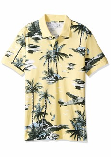 Lacoste Men's S/S All Over Printed Mini Pique Polo Regular FIT NAPOLITAN Yellow/Multi