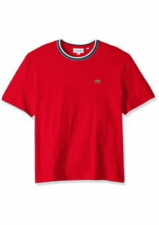 Lacoste Men's S/S Striped TOP Jersey T-Shirt Shirt red XXL