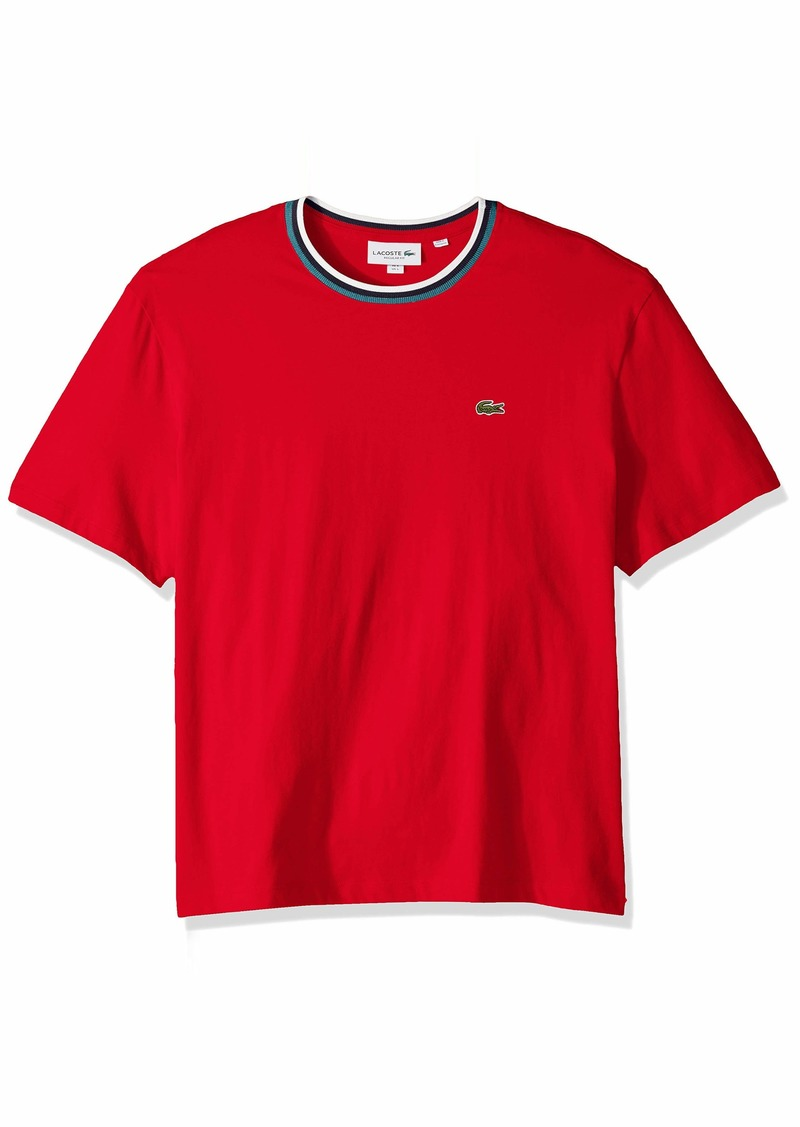 Lacoste Men's S/S Striped TOP Jersey T-Shirt Shirt red XXL