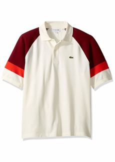 Lacoste Men's S/S TECHNIC Pique Colorblock Polo Classic FIT geode/Pinot/SALVIA