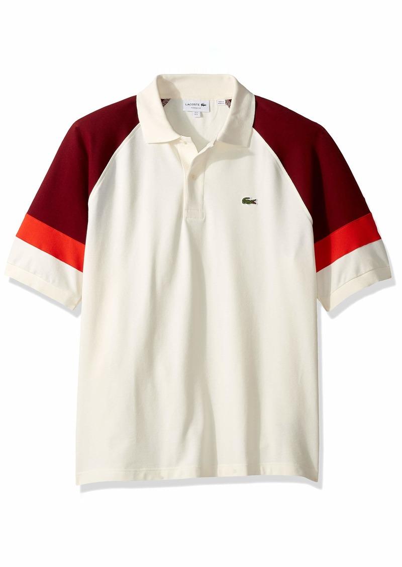 Lacoste Men's S/S TECHNIC Pique Colorblock Polo Classic FIT geode/Pinot/SALVIA