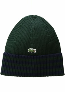 Lacoste Men's Striped Cotton Beanie