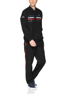 Lacoste Men's Taffeta Diamante Button Tracksuit WH3140 Black/Marino-White-Red-Wh