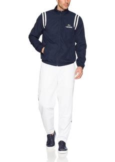 Lacoste Men's Taffeta Side Stripe Tracksuit WH3380 White/Navy Blue