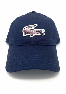 Lacoste Men's Tattersall Big Croc Cap  ONE
