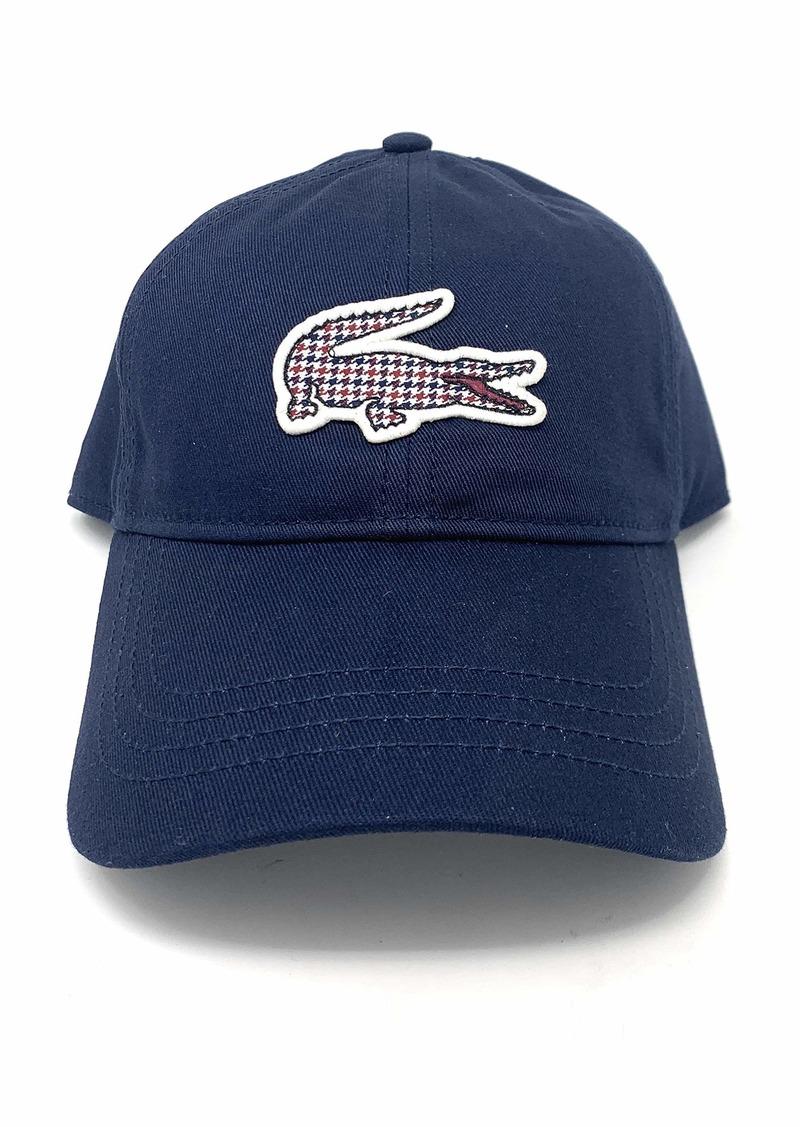 Lacoste Men's Tattersall Big Croc Cap  ONE