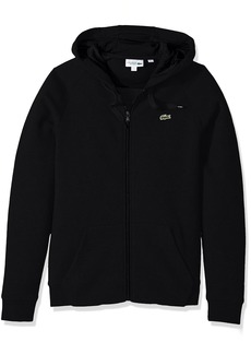 Lacoste Men's Tennis Brushed Fleece Full Zip Hoodie Sweatshirt  L