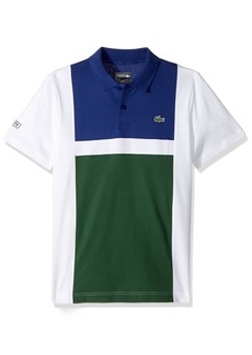 Lacoste Men's Tennis Short Sleeve Super Light Color Block Polo  XL