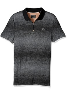 Lacoste Men's Tennis Short Sleeve Tech Jersey With Mesh Copper Back Polo Black/Copper XL