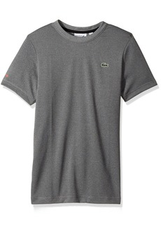 Lacoste Men's Tennis Short Sleeve Tone Heather Jersey T-Shirt