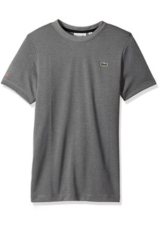 Lacoste Men's Tennis Short Sleeve Tone Heather Jersey T-Shirt  4X-Large