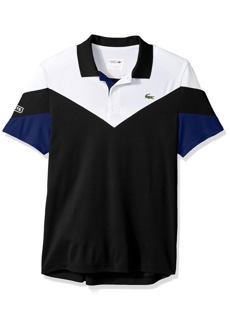 buy popular 2da82 1f79e Men's Tennis Short Sleeve Ultra Dry Chevron Colorblock Polo XL