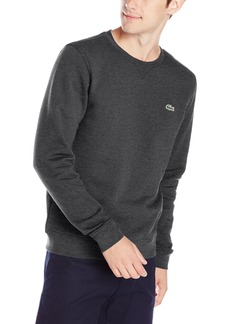 Lacoste Men's Tennis Training Sport Crew Neck Fleece Sweatshirt  Gray 4
