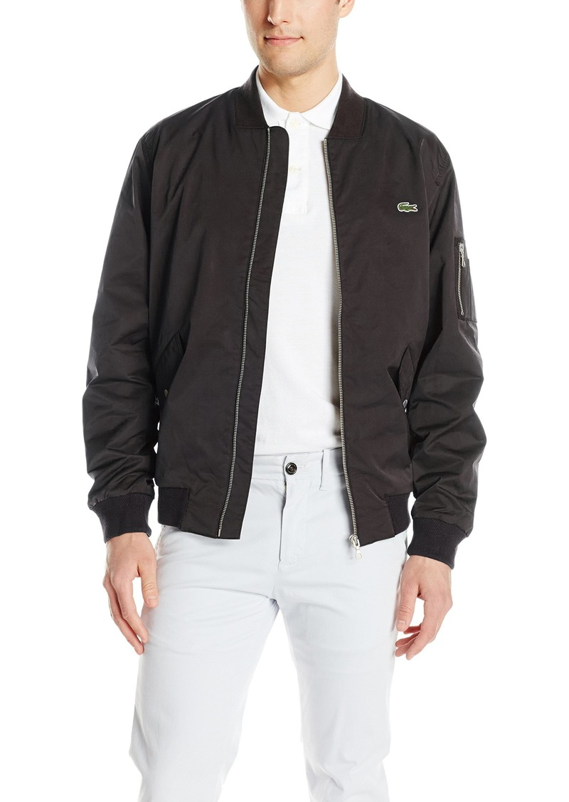 3c467b737eb6 Lacoste Lacoste Men s Textured Nylon Bomber Jacket Now  175.00