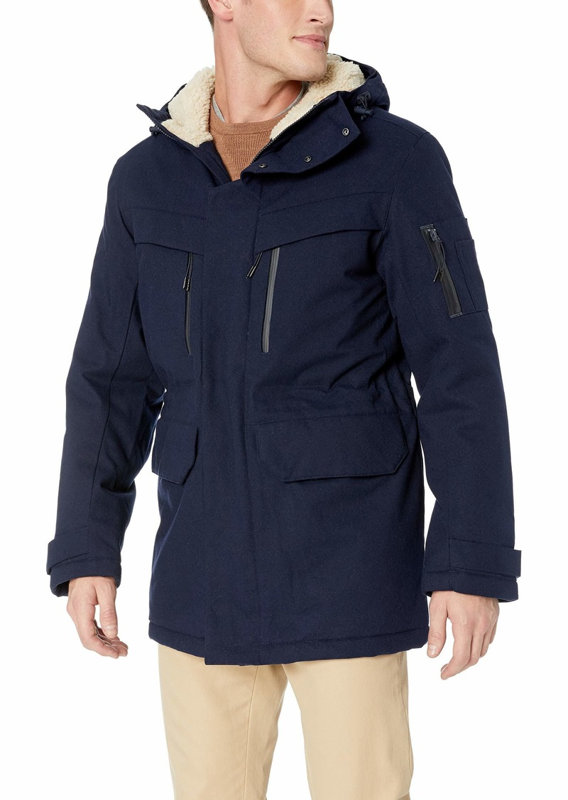 Lacoste Men's Twill Polyester Hooded Artic Parka