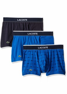 Lacoste Men's Underwear Cotton Stretch Trunks Multipacks Navy Turkish sea - 3 Pack