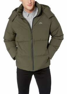 Lacoste Men's Water-Resistant Taffeta Jackets with Detachable Hood