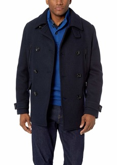 Lacoste Men's Wool 2 in 1 Peacoat
