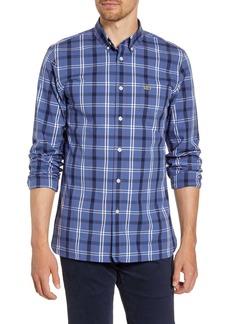 Lacoste Popeline Slim Fit Plaid Button-Down Shirt