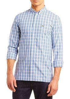 Lacoste Popeline Slim Fit Plaid Button-Down Sport Shirt