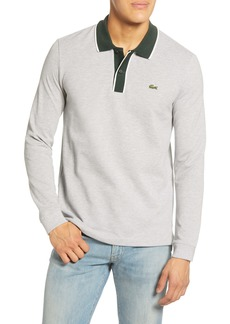 Lacoste Regular Fit Tipped Long Sleeve Piqué Polo