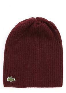 Lacoste Rib Knit Wool Beanie
