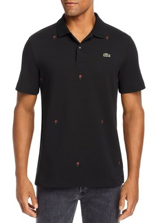 Lacoste Rose Embroidered Regular Fit Polo Shirt - 100% Exclusive
