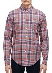 LACOSTE Slim-Fit Poplin Woven Plaid Shirt