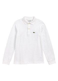 Lacoste Solid Long Sleeve Polo (Big Boys)