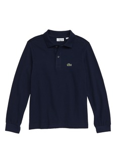 Lacoste Solid Long Sleeve Polo (Toddler Boys & Little Boys)