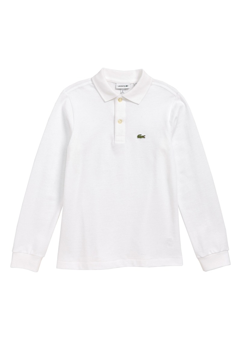 898b18932 Lacoste Lacoste Solid Long Sleeve Polo (Toddler Boys & Little Boys ...