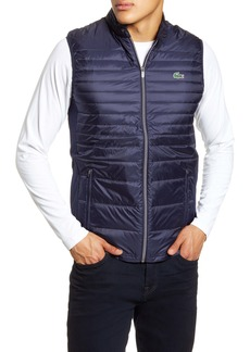 Lacoste Sport Water Resistant Quilted Down Golf Vest