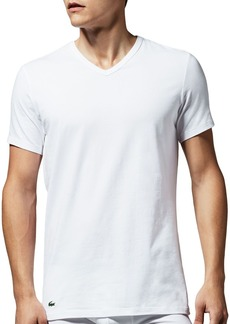 Lacoste Stretch Cotton V-Neck Tee, Pack of 2