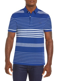 Lacoste Stripe Cotton & Linen Piqué Polo