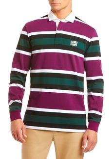 Lacoste Stripe Jersey Knit Long Sleeve Polo