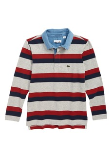 Lacoste Stripe Rugby Polo Shirt (Toddler Boys & Little Boys)