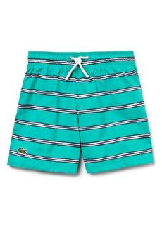 Lacoste Stripe Swim Trunks (Little Boys)