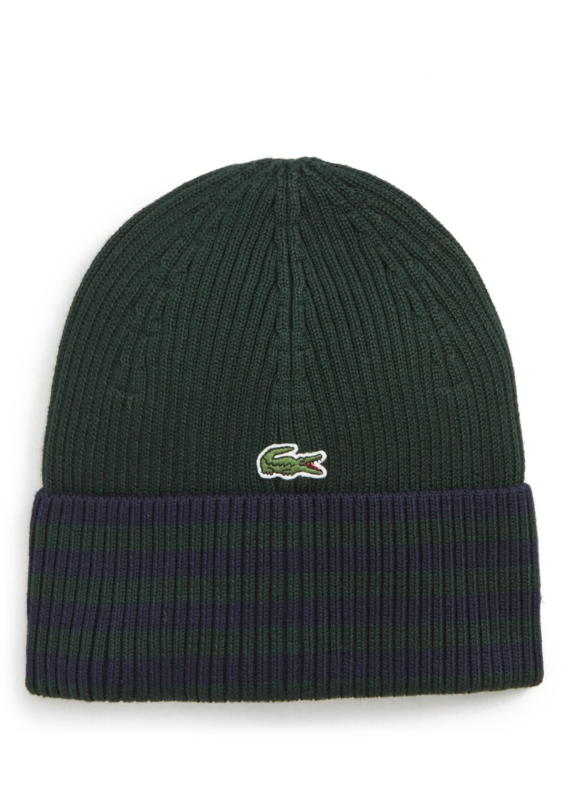 1608171a989 Lacoste Lacoste Striped Beanie