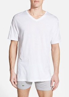 Lacoste Supima® Cotton V-Neck T-Shirt (3-Pack)