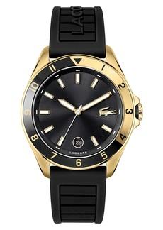 Lacoste Tiebreaker Silicone Strap Watch, 43mm