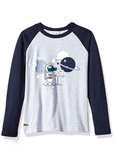 Lacoste Toddler Boy Long Sleeve Space Croc Graphic T-Shirt