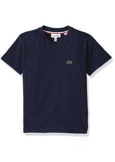 Lacoste Toddler Boys' Short Sleeve Solid V-Neck Tee Shirt