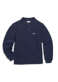 Lacoste Little Boy's & Boy's Long-Sleeve Ribbed Collar Sweater